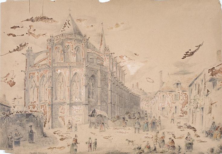 Montfort l'Amaury : le marché et l'église_0