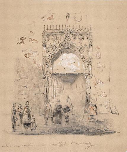 Montfort l'Amaury : entrée du cimetière_0