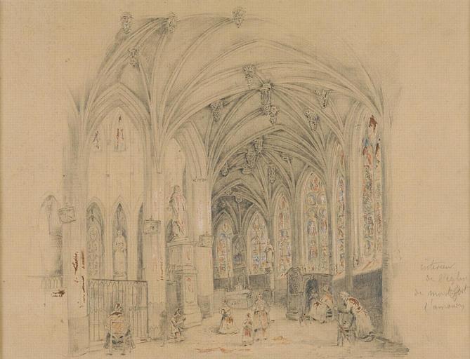 Montfort l'Amaury : intérieur de l'église_0