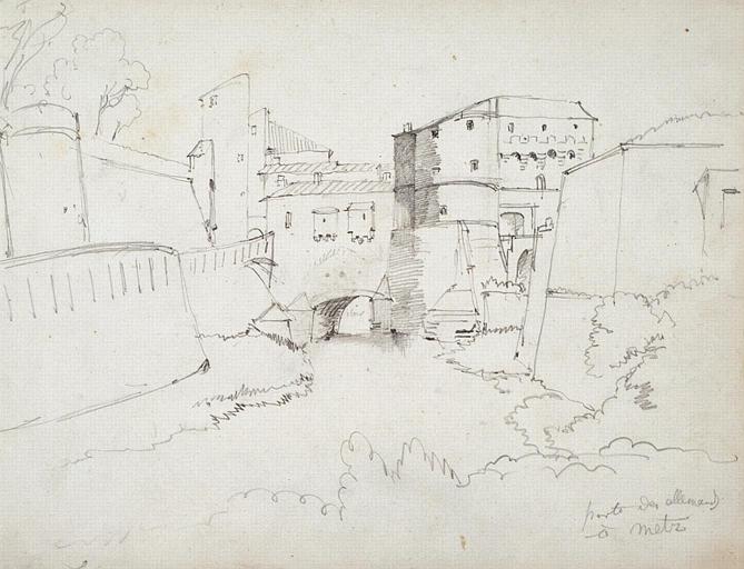 Porte des Allemands à Metz, 1840_0