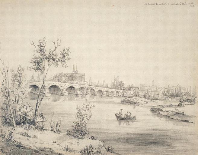 Metz : le Pont des Morts et la Cathédrale, 1840_0