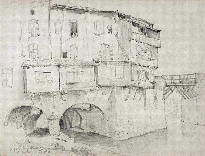 Maisons à Pont-à-Mousson, 1851_0