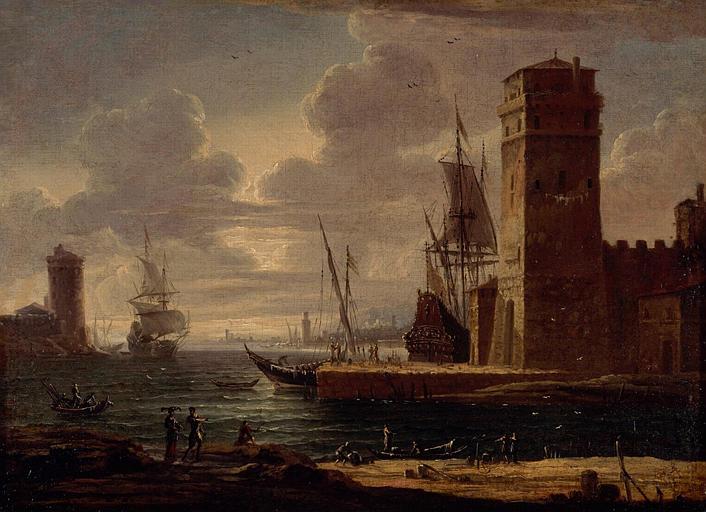 Marine : port à la tour carrée_0