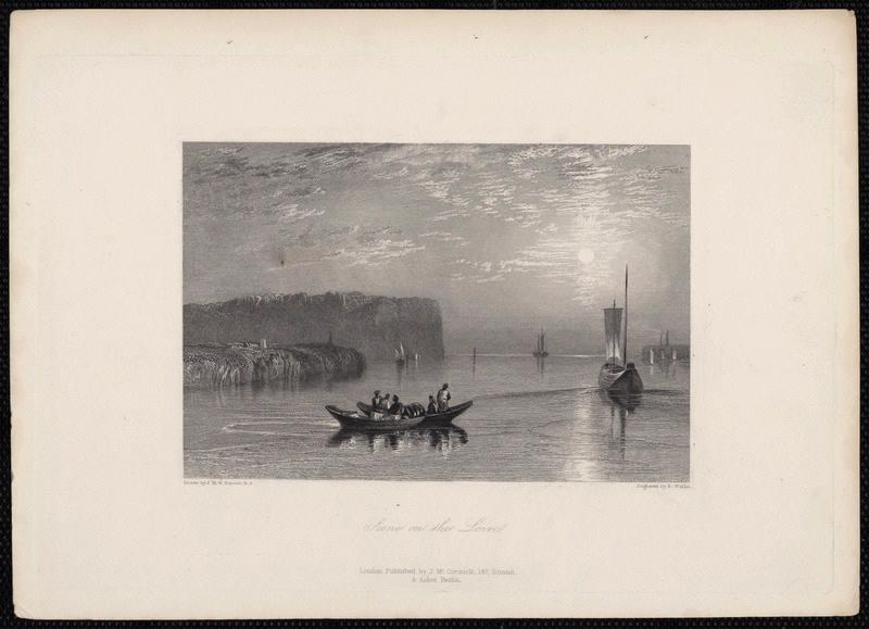 TURNER Joseph Mallord William (d'après), WALLIS Robert (graveur) : Scene on the Loire
