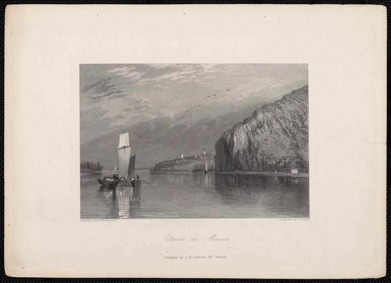 TURNER Joseph Mallord William (d'après), WALLIS Robert (graveur) : Coteaux de Mauves