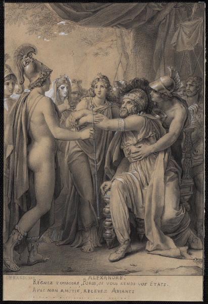 GERARD François baron (peintre) : Alexandre le Grand (de Racine, Acte V, Scène 3)