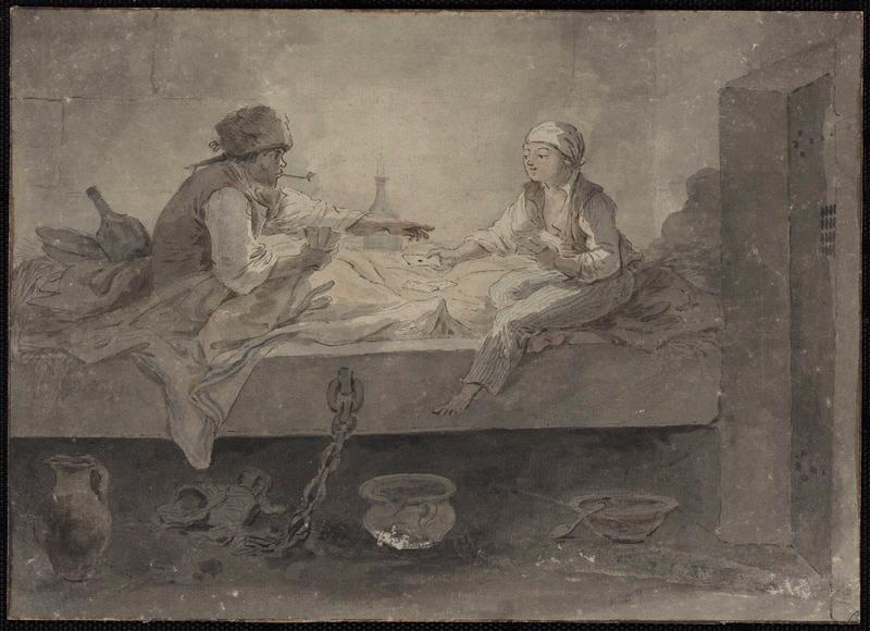 Louis XVII et le cordonnier Simon ; La partie de cartes à Sainte-Pélagie (autre titre)_0