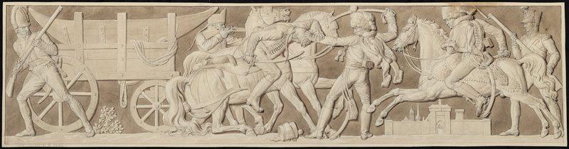 Les Français passent la Saale ; Les Français commandés par le grand duc de Berg, passent la Saale (1806) (autre titre)_0