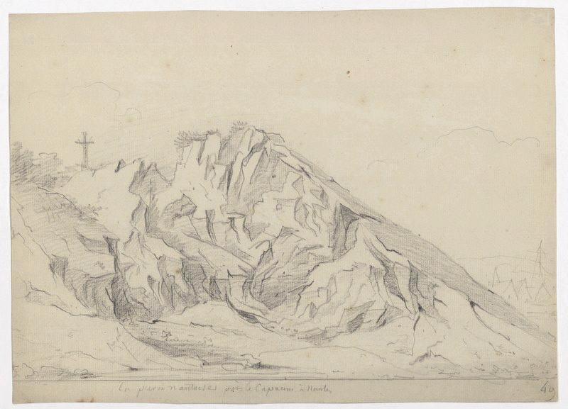 CASSAS Louis François (dessinateur) : La pierre nantaise près Les Capucins à Nantes