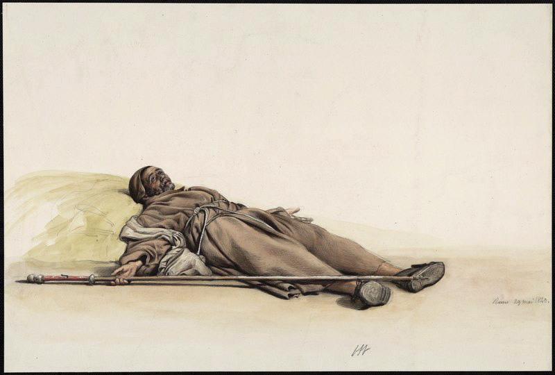 BODINIER Guillaume (dessinateur) : Pèlerin allongé