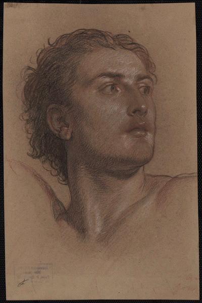 HESSE Alexandre (dessinateur) : Etude pour la tête de Saint-Protais