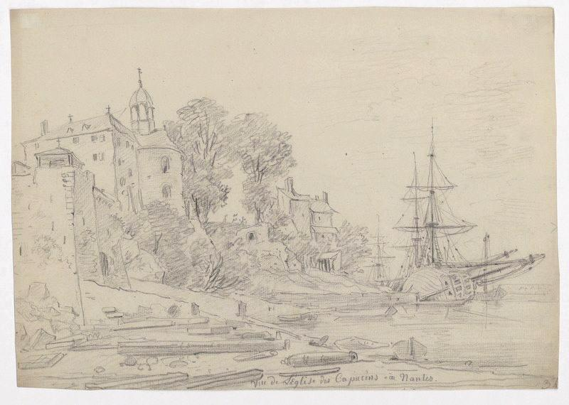 CASSAS Louis François (dessinateur) : Vue de l'église des Capucins à Nantes