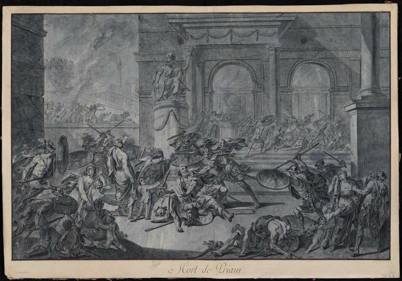 LE BARBIER Jean Jacques François (dessinateur), LE BARBIER l'Aîné (dit) : La mort de Priam