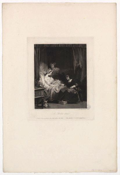 BONINGTON Richard Parkes (d'après, peintre), REYNOLDS Samuel William le Vieux (graveur) : Le billet doux, La jeune fille malade