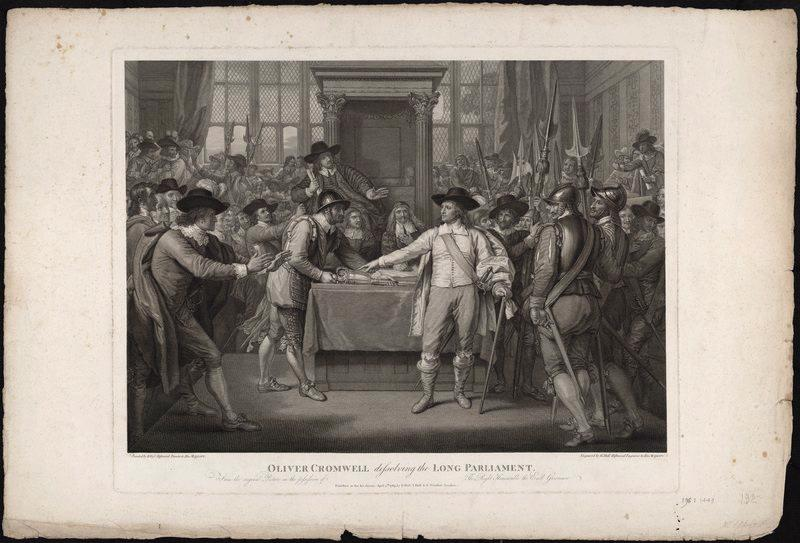 Oliver Cromwell dissolving the Long Parliament_0