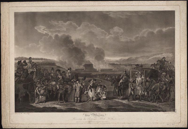 Le Roi George 3 passant en revue des troupes à Black Heath 1787_0