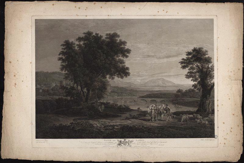 LORRAIN Claude (dit), GELLEE Claude (d'après), WOOLLETT William (graveur) : Jacob and Laban