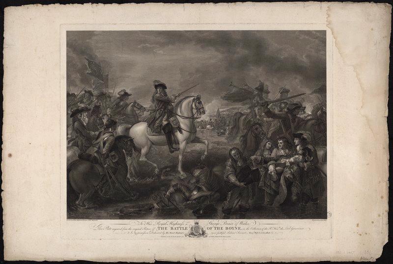 Bataille de la Boyne ou Mort du Maréchal de Shömberg_0