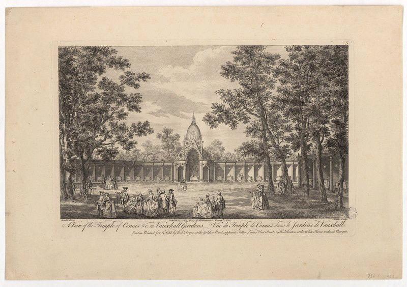 Vue du temple de Comus dans le jardin de Vauxhall_0