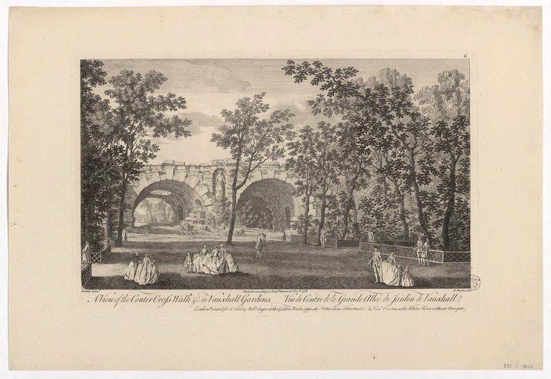 CANALETTO (d'après, peintre), ROOKER Edward (graveur) : Vue du centre de la grande allée du jardin de Vauxhall