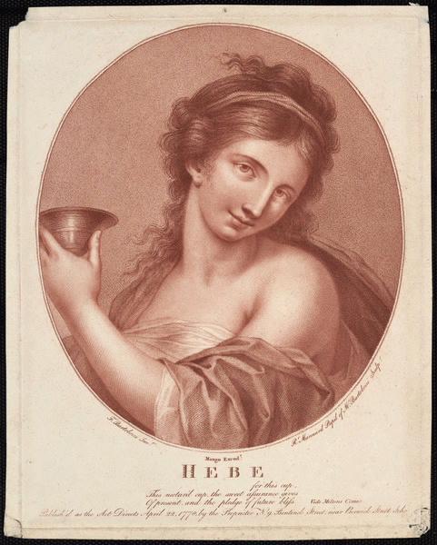 BARTOLOZZI Francesco (graveur), MARCUARD Robert Samuel (graveur) : Hébé