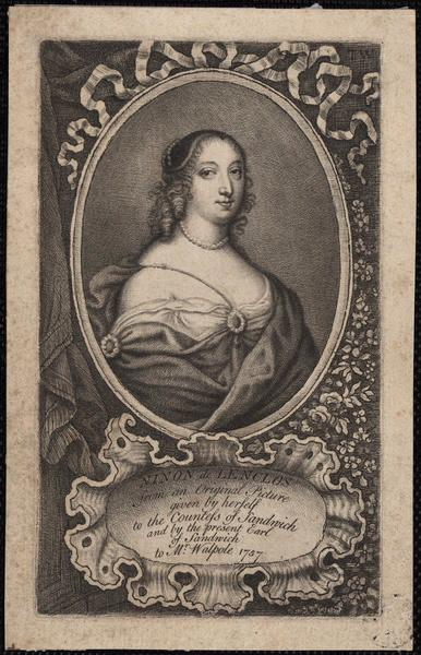 Ninon de Lenclos from an original picture given by herself to the Countess of Sandwich and by present Earl of Sandwich