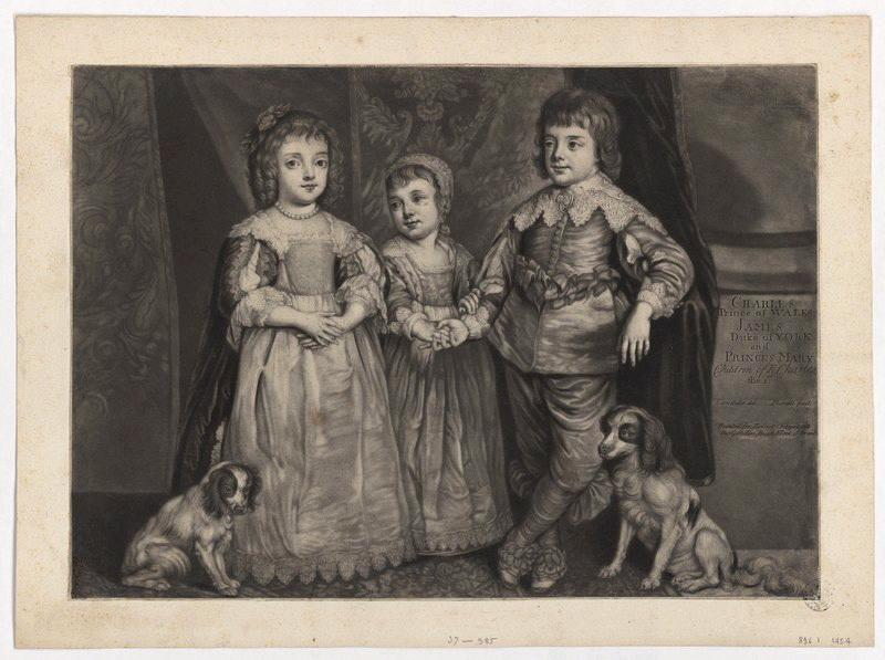 Les trois enfants de Charles Ier (Charles Prince of Wales, James Duke of York and Princess Mary, children of King Chalres the first.)