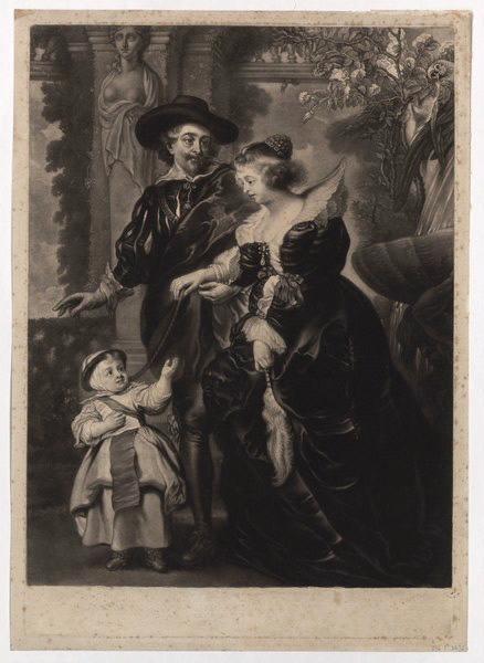 RUBENS Pierre Paul (d'après, peintre), ARDELL James Mac (graveur) : La famille de Rubens