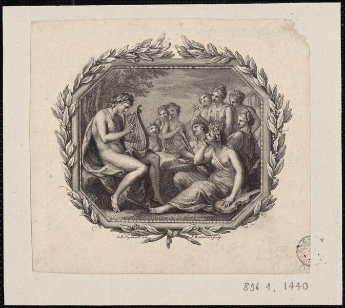 CIPRIANI Giovanni Battista (d'après), BARTOLOZZI Francesco (graveur) : Apollon et les Muses