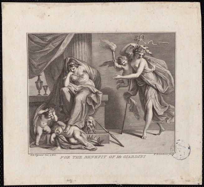 CIPRIANI Giovanni Battista (d'après), BARTOLOZZI Francesco (graveur) : For the benefit of Mr Giardini