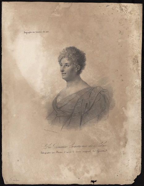 GIRODET DE ROUCY-TRIOSON Anne Louis (d'après), LLANTA Jacques François (graveur) : La princesse Constance de Salm