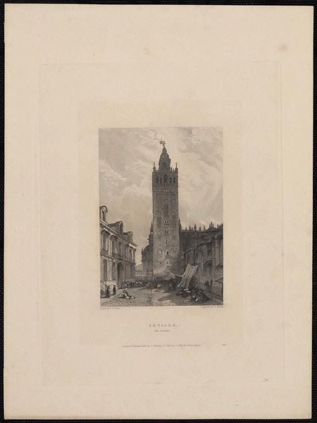 LEWIS John Frederick (d'après), FINDEN Edward (exécutant), MURRAY John (exécutant) : Seville the Giralda