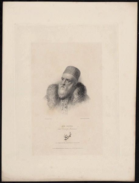 STONE Franck (d'après, dessinateur), FINDEN Edward (graveur) : Ali Pacha late vizier of Jannina