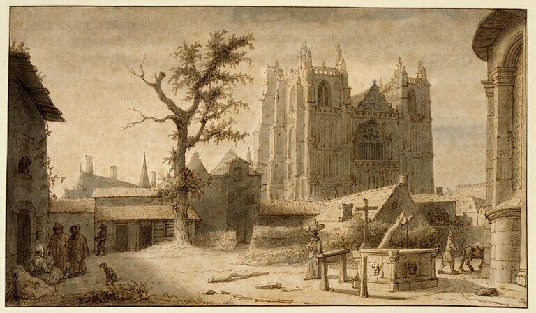 La cathédrale et l'abside de la collégiale Notre-Dame_0