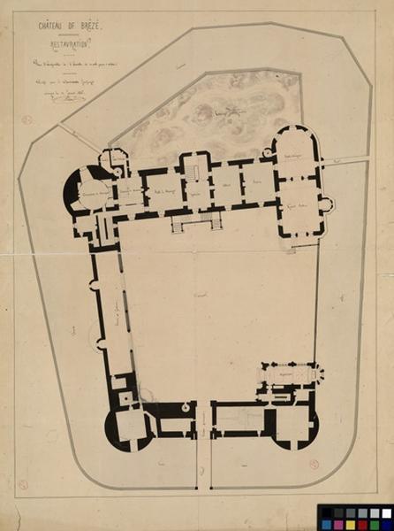 HODE René (dessinateur, architecte) : Château de Brézé
