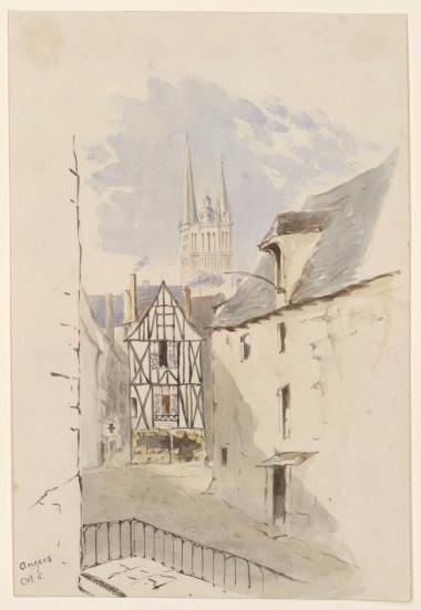 Angers, vue de la cathédrale