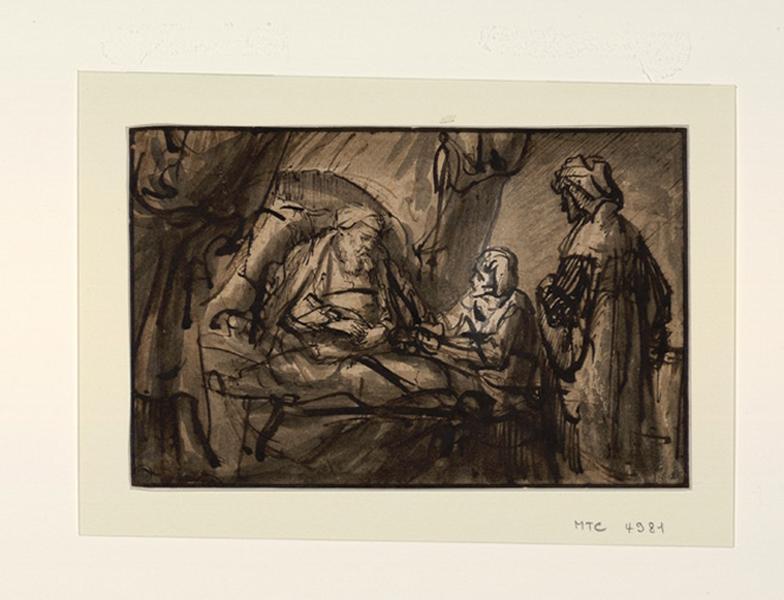 Isaac promettant sa bénédiction à Esaü ; Isaac et Esaü ; La bénédiction d'Isaac
