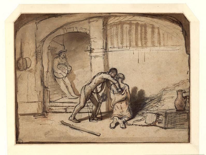FABRITIUS Barend (?, dessinateur), HOOGSTRATEN Samuel van (?, dessinateur), VAN DEN EECKHOUT Gerbrand (?, dessinateur) : La décollation de saint Jean Baptiste