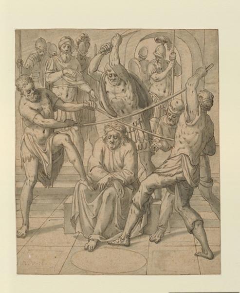 NOORT Lambert van (dessinateur) : Le Christ couronné d'épines, Le couronnement d'épines