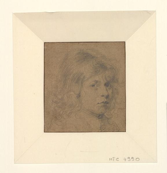 Portrait d'enfant. Victor Bertin ; Portrait d'enfant aux longs cheveux bouclés_0