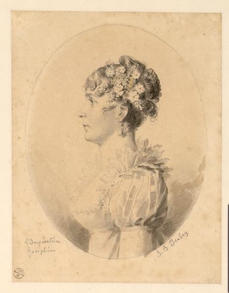 ISABEY Jean-Baptiste (dessinateur) : Portrait de l'impératrice Joséphine