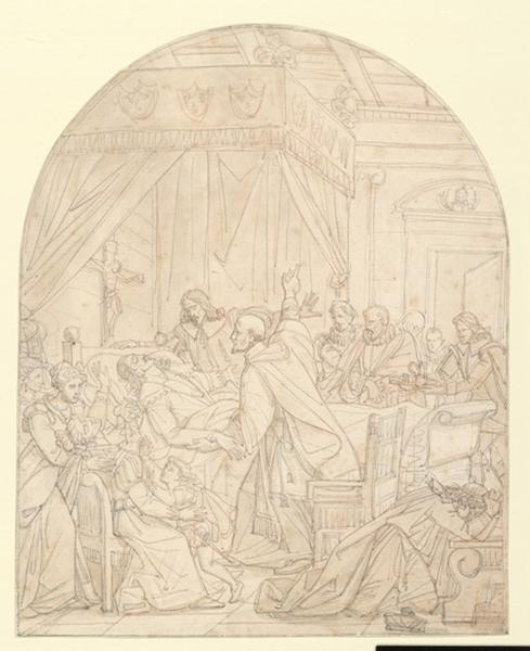 Saint Vincent de Paul auprès de Louis XIII pendant sa maladie_0