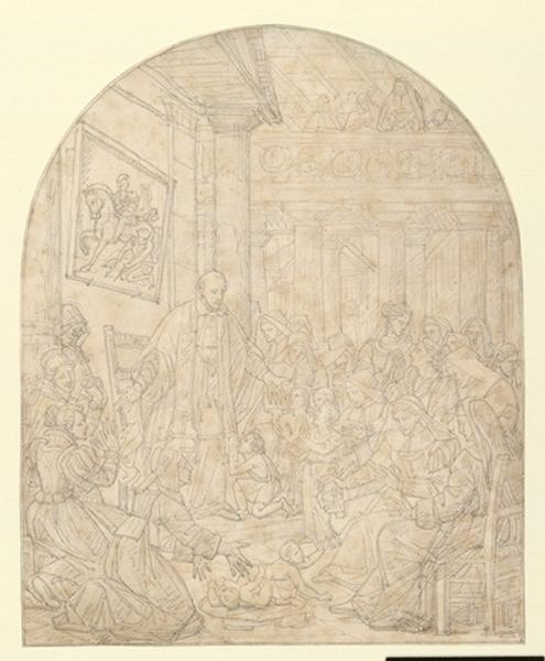 GUILLEMOT Alexandre Charles (dessinateur) : Saint Vincent de Paul et les dames de la charité