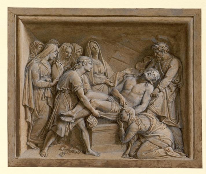 LAITIE Charles René (dessinateur) : La Mise au tombeau