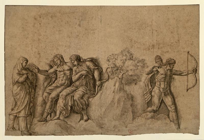 anonyme : Scène mythologique dite Junon et l'Amour, Junon et l'amour (autre titre)