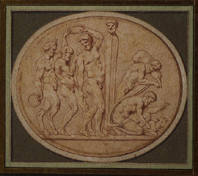 BOUCHARDON Edme (dessinateur, sculpteur) : Marche de faunes, Athlète célébrant son triomphe (autre titre)