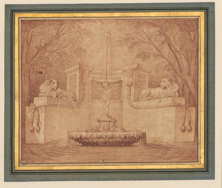 BOUCHARDON Edme (dessinateur, sculpteur) : Fontaine du Génie, Projet de fontaine (ancien titre)