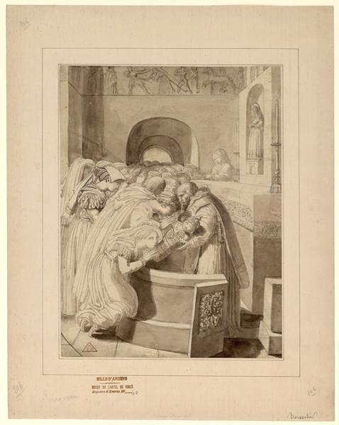 Présentation d'une châsse à reliques à des Italiennes. 1806 (?)_0