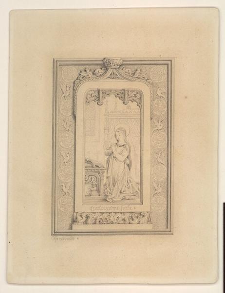 Composition décorative dans le style du XIVème siècle