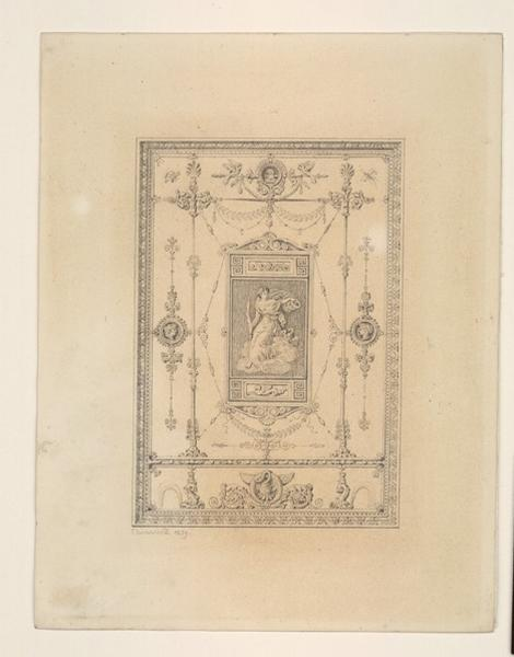 Composition décorative dans le style du XIXème, 1829